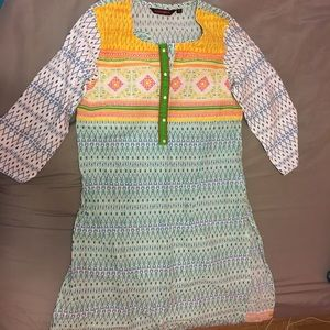 Tops - Salwar Kameez/ Churidar- pastel multi colored